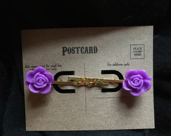 Ramblin' Rose Hairpins in Fuchsia