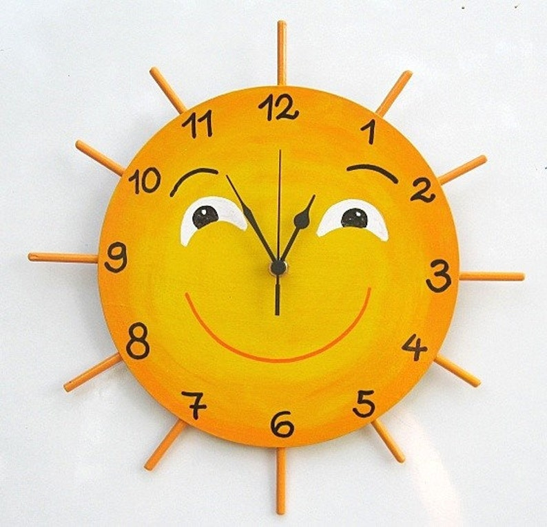 LITTLE MISS SUNSHINE Hand Painted Wall Clock image 1