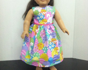 """18"""" doll Clothes Easter Egg Dress"""