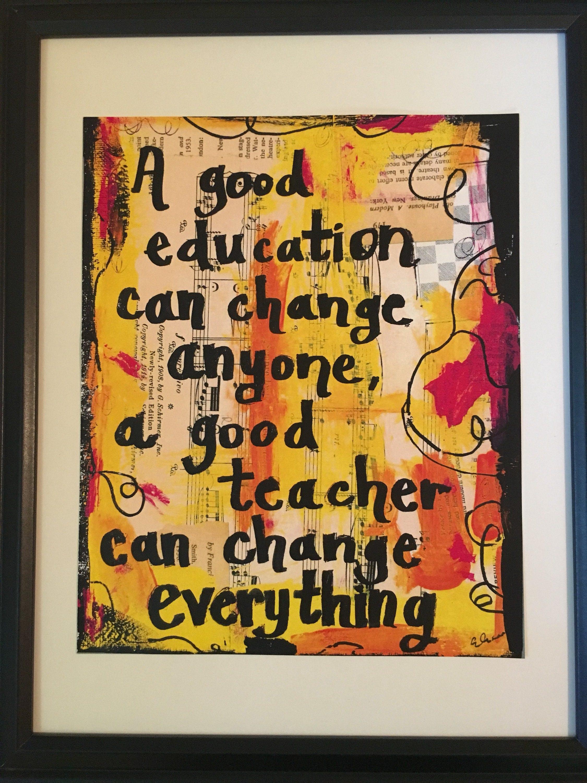 Teacher art book painting classroom decor education gift art | Etsy