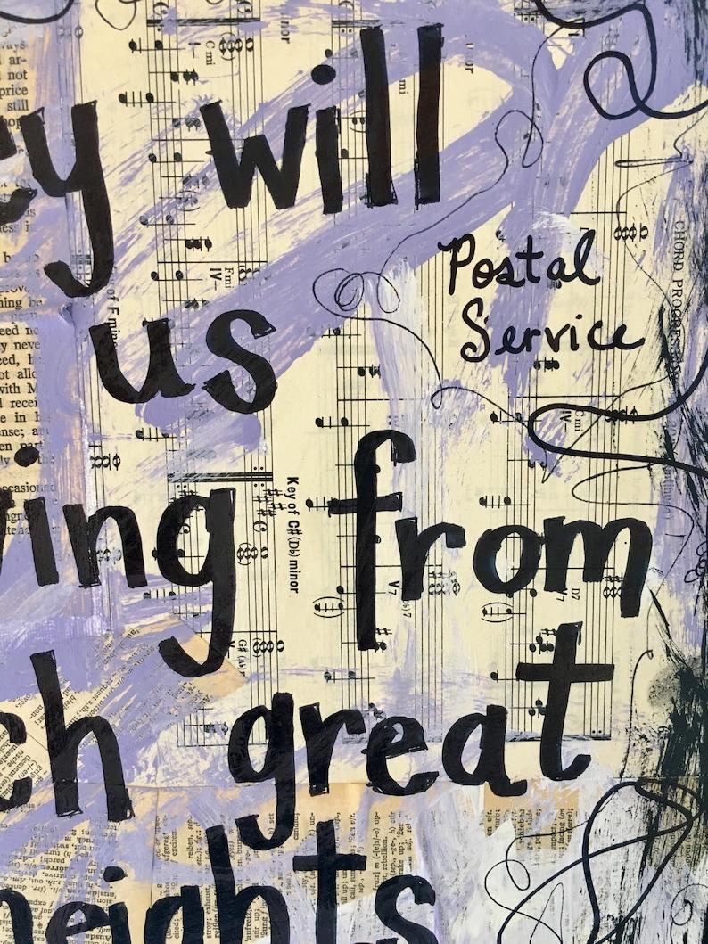 The Postal Service Fan Music Indie Rock Pop Art Musician Song Etsy
