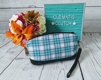 Clematis - Blue & Pink Plaid Flannel