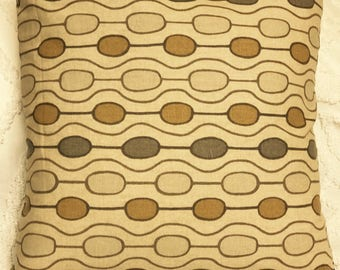 Throw Pillow cover - Decorative cushion - Kaufman stain resistant - oval line design -