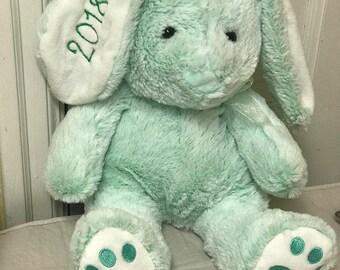 monogram Easter bunny - stuffed animal - personalized bunny -