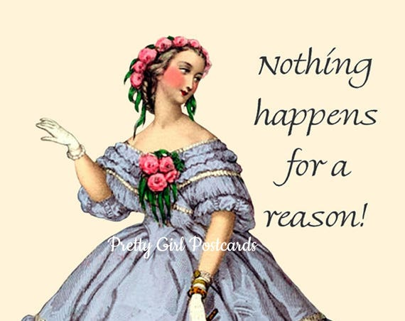 "Nothing Happens For A Reason! ~ Marie Antoinette 4"" x 6"" Postcards - Free Shipping in USA"