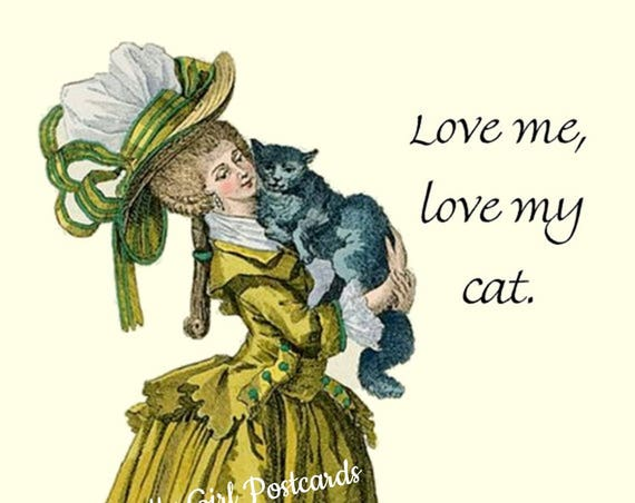Love Me, Love My Cat Postcard
