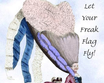 "Fun ""HIPPIE FREAK"" Postcard!  ""Let Your Freak Flag Fly!"""