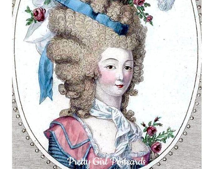 "SERENITY NOW POSTCARD! ""Seek Serenity. When That Doesn't Work, Seek Pharmaceuticals"" Funny Postcards, Marie Antoinette, Pretty Girl Postcard"