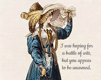"""PRESIDENTIAL DEBATE POSTCARD! """"I Was Hoping For A Battle Of Wits, But You Appear To Be Unarmed"""""""
