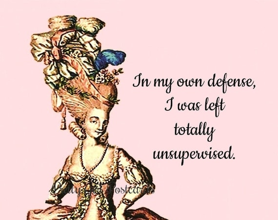 In My Own Defense, I Was Left Totally Unsupervised. ~ Pretty Girl Postcards: Sarcastic & Slightly Twisted Observations of 21st-Century Life