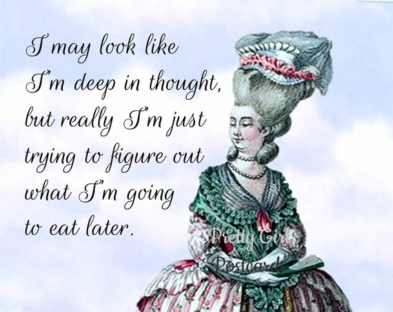 I May Look Deep In Thought... ~ Pretty Girl Postcards: Funny, Sarcastic & Slightly Twisted Observations of 21st-Century Life.