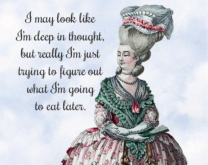 "Funny ""FOOD"" Postcard! ""I May Look Like I'm Deep In Thought, But Really I'm Just Trying To Figure Out What I'm Going To Eat Later."""