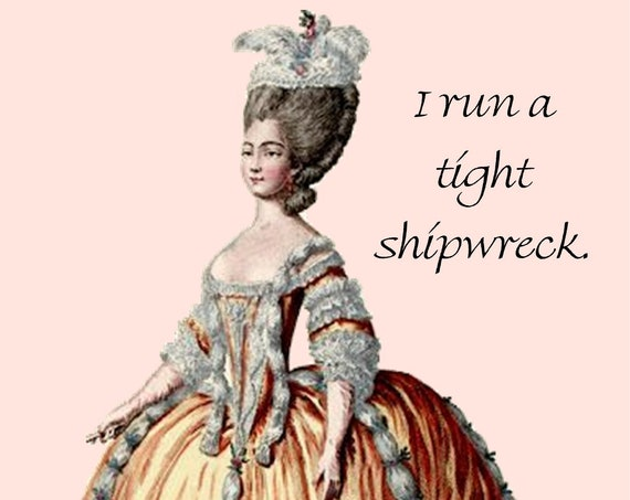 I Run A Tight Shipwreck. ~ Pretty Girl Postcards: Funny, Sarcastic & Slightly Twisted Observations of 21st-Century Life.