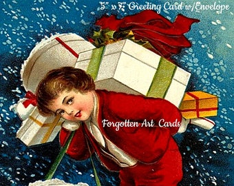 """HEARTY GOOD WISHES Postcard! """"May Your Christmas Be Full Of Gladness and Joy."""""""