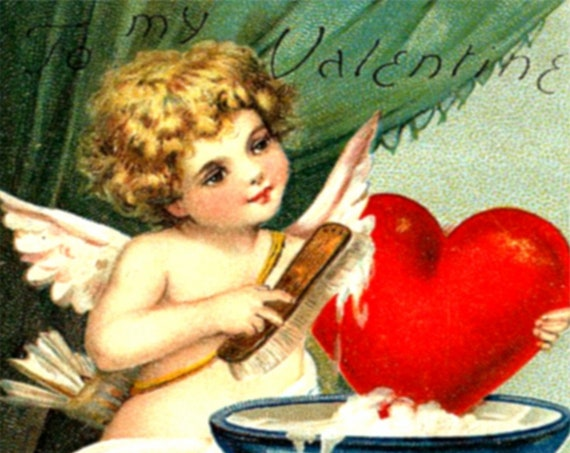 "Phasing Out ALL Forgotten Art Cards!  ""To My Valentine"" by Samuel Schmucher 5"" x 7"" Greeting Card with Envelope (Blank Inside)"