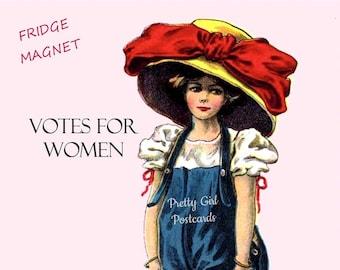 """Feminist Anthem """"VOTES for WOMEN"""" Fridge Magnet!  Buy Any 3 Fridge Magnets Get 1 FREE!"""