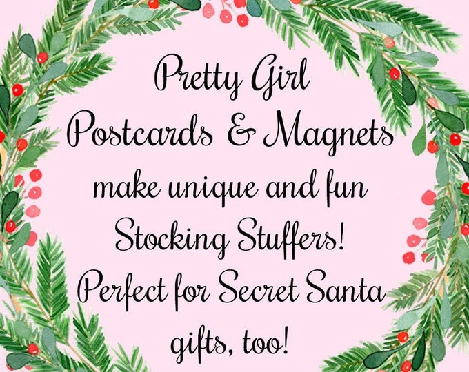 """Christmas Gifts Under 5 Dollars From PRETTY GIRL MAGNETS!  3"""" X 3"""" Square Fridge Magnets Featuring Some Of Our Favorite Pretty Girls!"""