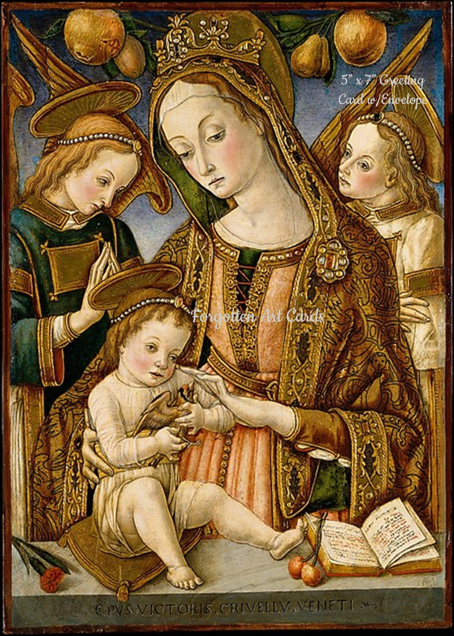 Religious Christmas Card, 5x7 Card with Envelope, Madonna and Child ...