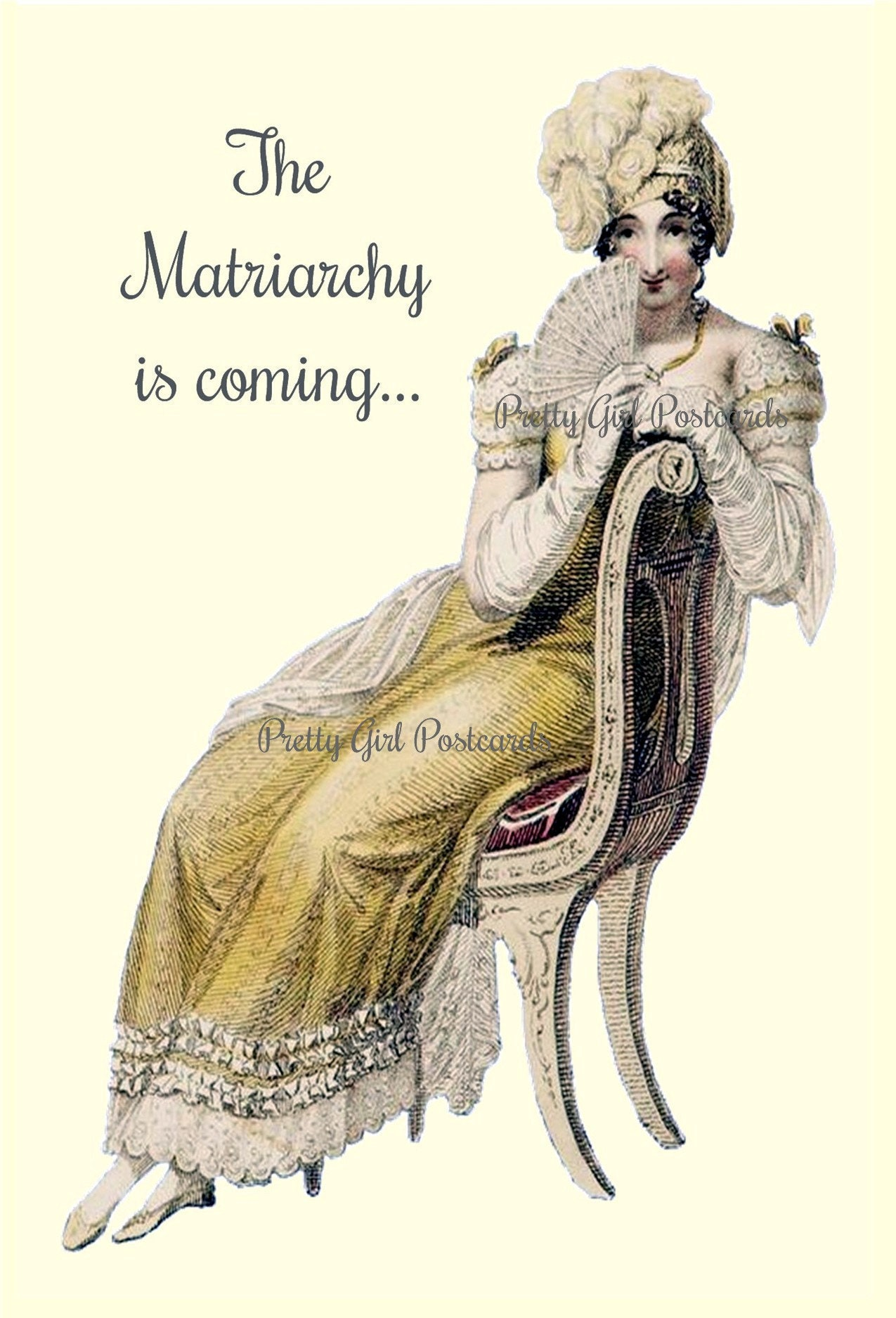 Marie Antoinette Postcard Witty Political Quote Greeting Card The