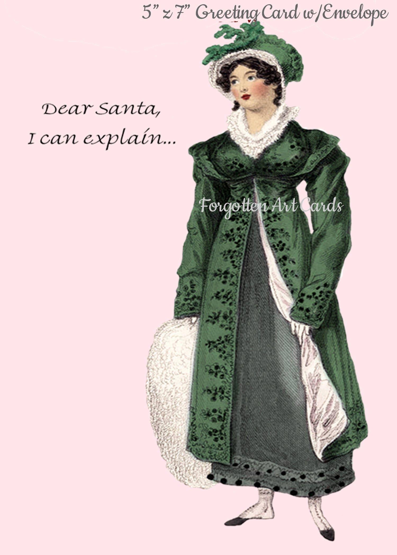 Dear Santa I Can Explain 5 X 7 Greeting Card Wenvelope Jane