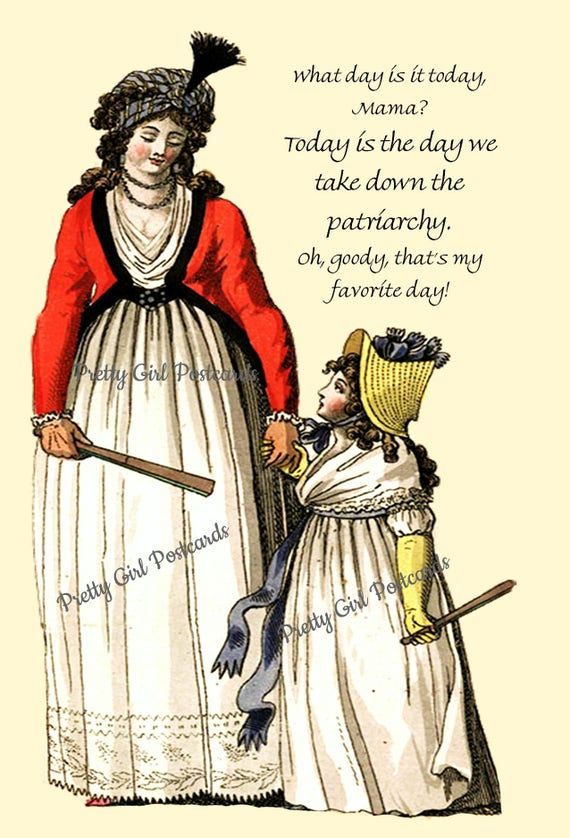 Smash the Patriarchy Post Card ~ Today Is The Day We Take Down The Patriarchy ~ Funny Postcard ~ Pretty Girl Postcards ~ Feminist ~ Women