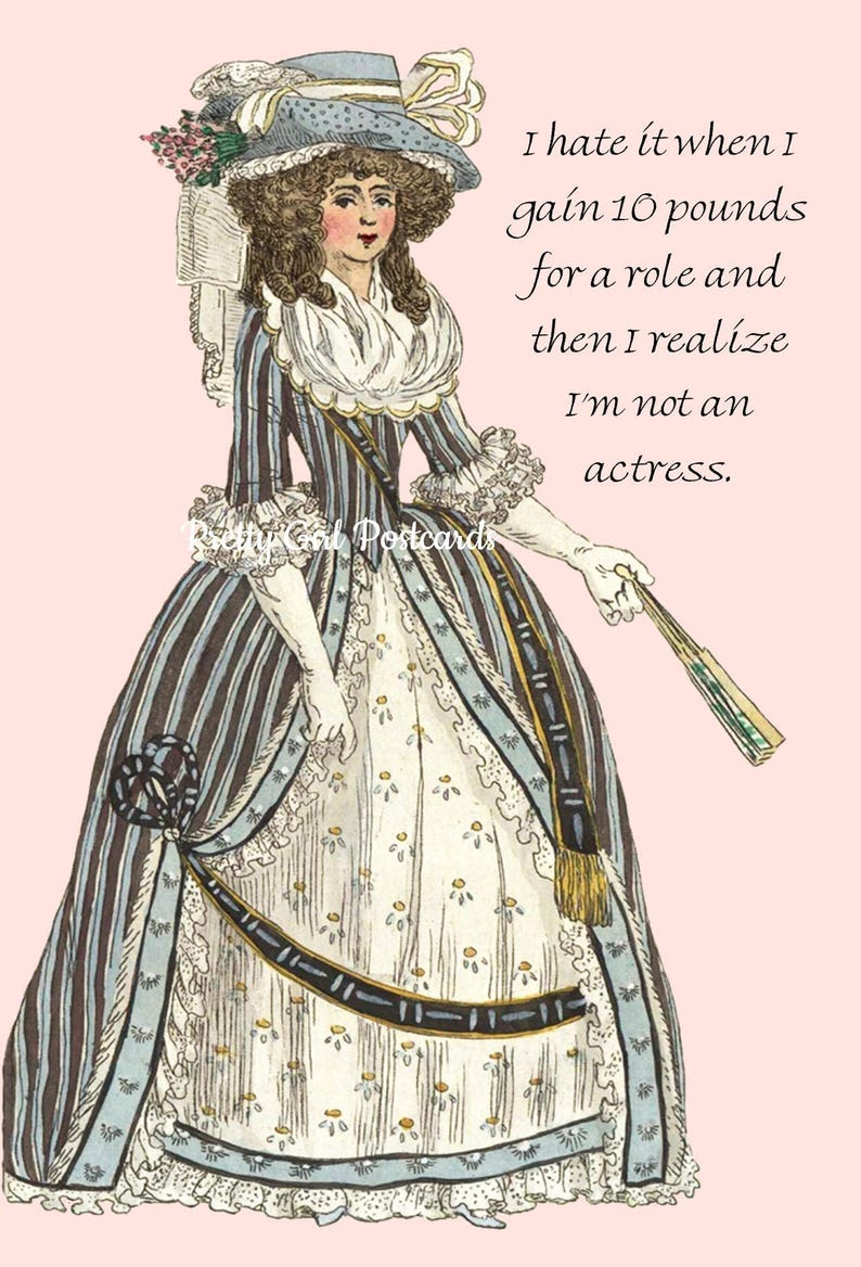18ef1157a483 MARIE ANTOINETTE Card IFunny Postcard Witty Quote I Hate It
