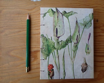 Small Journal/ Botanical Illustration/ Peace Lily Notebook