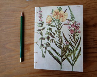 Small Journal/ Botanical Illustration/ Wildflower Notebook