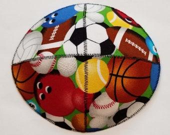 with Bowling Pins and Balls Hand-painted Kippah Yarmulke