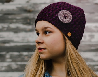Women's Crochet Hat - Gifts for Her - Gifts for Best Friends - Purple Hat - Unique Handmade Gift