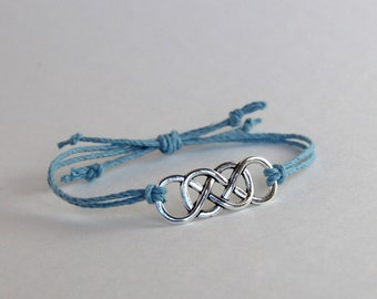 Hemp Bracelet/Friendship/Love Always/Celtic Knot/Gift Under 10