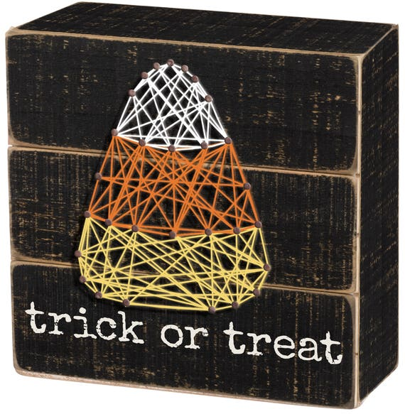 Trick or Treat Candy Corn String Art
