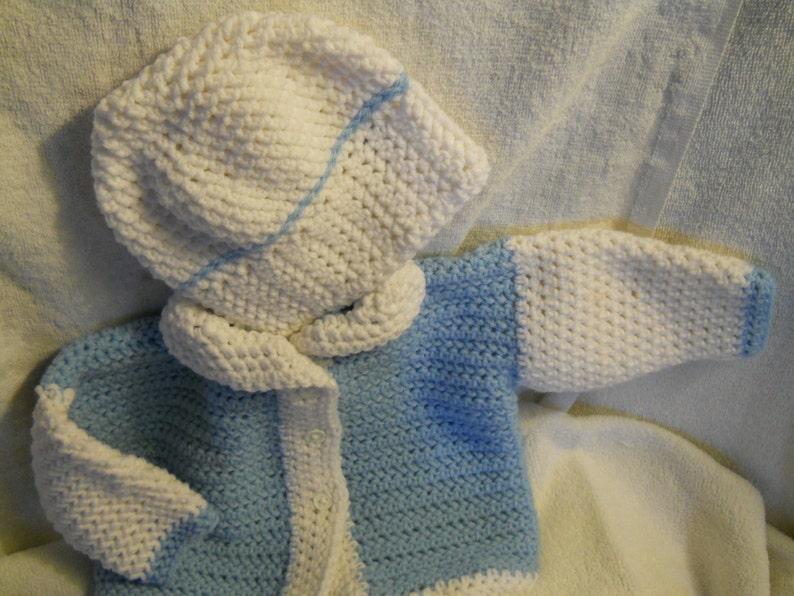 Newborn sweater and hat set image 1