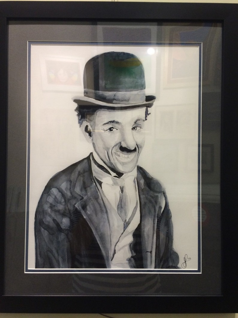 eeacbd27cceac Framed Charlie Chaplin portrait