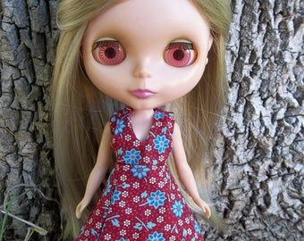"""Pattern PDF - Vintage Style Maxi Dress, Fits 12"""" Blythe, Icy, Jecci Five, and Makie Dolls - permission to sell finished items"""