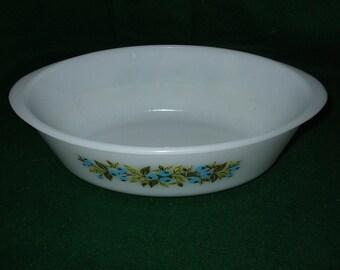 "Vintage Glasbake Oval Casserole Dish ""Blueberry"""