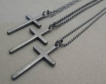 7d2db316b51 Mens Cross necklace silver