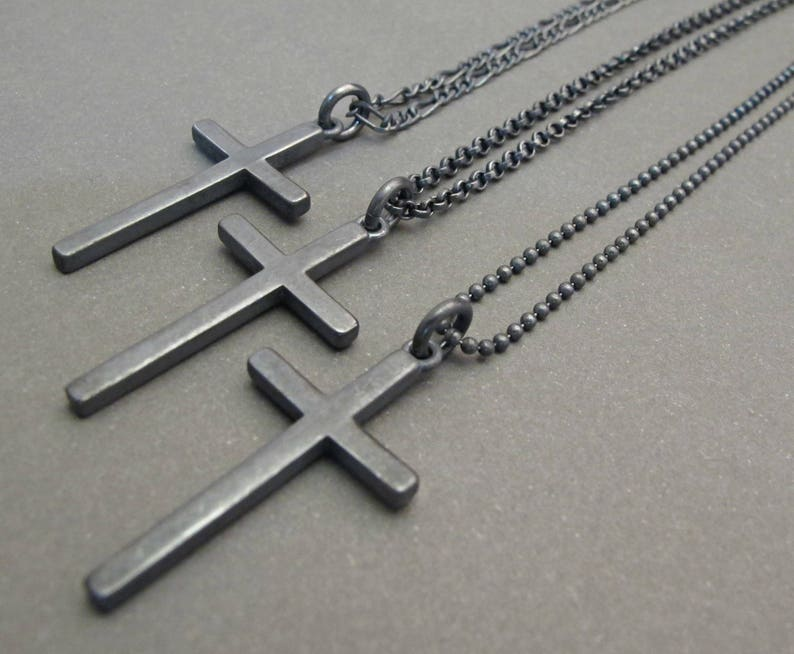 1ed6340a8ea Mens Cross necklace silver Cross jewelry Cross necklace