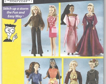 Simplicity 7073 Barbie Sewing for dummies new uncut pattern