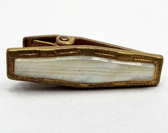 Antique Tie Clip Monogram Tie Clip Antique Suit Accessories Gold Filled Tie Clip Gifts For Grooms HAYWARD Tie Clip Initial Tie Clip