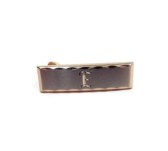 Hickok Initial Letter E Vintage Tie Clip, Mid Cent
