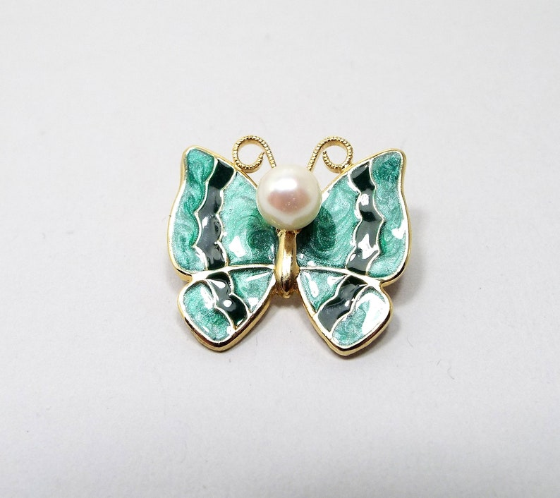 Crystal Imitation Pearl Butterfly Insect Pin Tie Hat Scarf Brooch Stick Pins