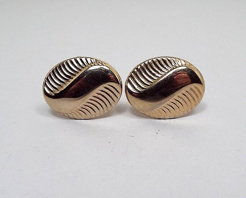 Gold Cufflinks Mid Century Vintage Cufflinks Wedding Cufflinks Womens Cufflinks Mens Formal Groom Cufflinks Gold Tone Best Man Jewelry