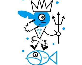 Serigrafía edición limitada de Neptuno