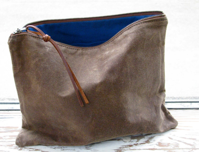 The Traveler's Clutch // waxed canvas pouch // COCOA image 0