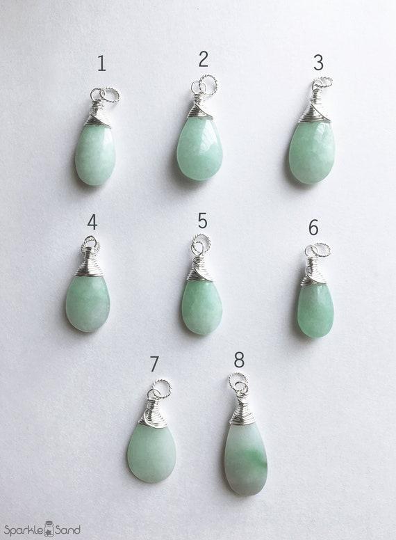 Burmese Jade Gemstone Earrings with Sterling Silver and Swarovski Crystal