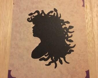 Medusa Silhouette Print