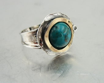 ms 1439r Hadar Jewelry Handcrafted Israel Art Sterling Silver opal Ring gold  zircon gift can br resized