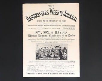 The Hairdressers Weekly Journal No1 - Vol. 1, Saturday May 6th 1882, Antique Ephemera, Highly Collectable, Paperback Journal, Magazine