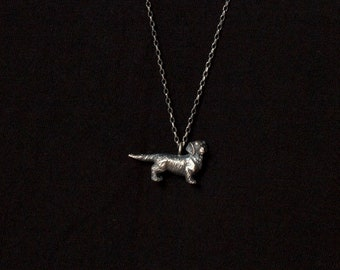 Dog Necklace - Sterling Silver Dog Pendant Necklace for Men Makes Ideal Jewelry Gift for Dog Lover